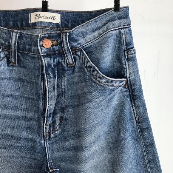 dc80469578597 Madewell Denim - madewell wide leg crop jeans  drop hem edition